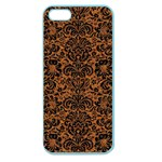 DAMASK2 BLACK MARBLE & RUSTED METAL Apple Seamless iPhone 5 Case (Color) Front