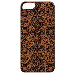 Damask2 Black Marble & Rusted Metal Apple Iphone 5 Classic Hardshell Case by trendistuff