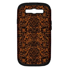 Damask2 Black Marble & Rusted Metal Samsung Galaxy S Iii Hardshell Case (pc+silicone) by trendistuff