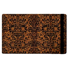 Damask2 Black Marble & Rusted Metal Apple Ipad 3/4 Flip Case