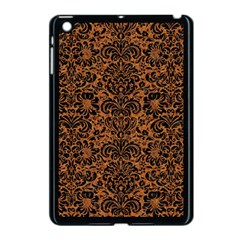 Damask2 Black Marble & Rusted Metal Apple Ipad Mini Case (black) by trendistuff
