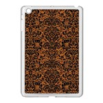 DAMASK2 BLACK MARBLE & RUSTED METAL Apple iPad Mini Case (White) Front