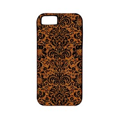 Damask2 Black Marble & Rusted Metal Apple Iphone 5 Classic Hardshell Case (pc+silicone)