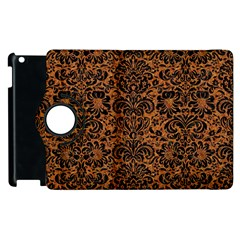 DAMASK2 BLACK MARBLE & RUSTED METAL Apple iPad 2 Flip 360 Case
