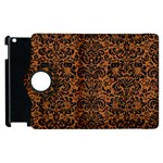 DAMASK2 BLACK MARBLE & RUSTED METAL Apple iPad 3/4 Flip 360 Case Front