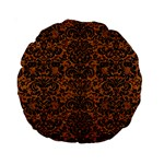 DAMASK2 BLACK MARBLE & RUSTED METAL Standard 15  Premium Round Cushions Front