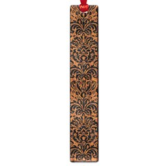 Damask2 Black Marble & Rusted Metal Large Book Marks by trendistuff