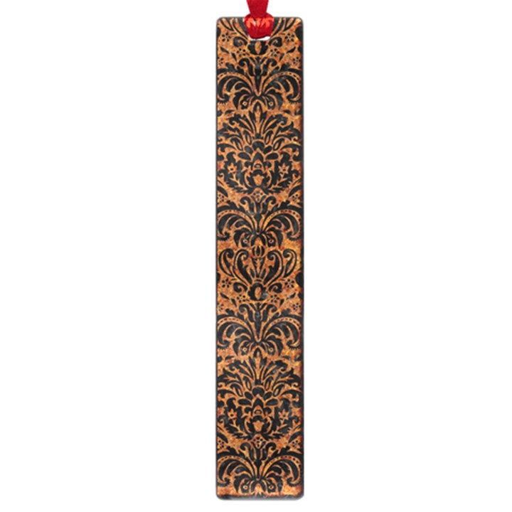 DAMASK2 BLACK MARBLE & RUSTED METAL Large Book Marks