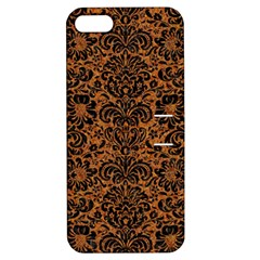 Damask2 Black Marble & Rusted Metal Apple Iphone 5 Hardshell Case With Stand by trendistuff