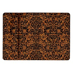 Damask2 Black Marble & Rusted Metal Samsung Galaxy Tab 10 1  P7500 Flip Case