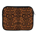 DAMASK2 BLACK MARBLE & RUSTED METAL Apple iPad 2/3/4 Zipper Cases Front