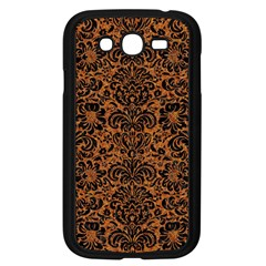 Damask2 Black Marble & Rusted Metal Samsung Galaxy Grand Duos I9082 Case (black) by trendistuff