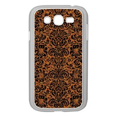 Damask2 Black Marble & Rusted Metal Samsung Galaxy Grand Duos I9082 Case (white) by trendistuff