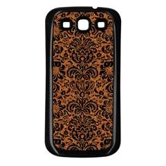 Damask2 Black Marble & Rusted Metal Samsung Galaxy S3 Back Case (black) by trendistuff