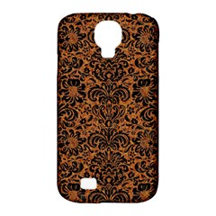 Damask2 Black Marble & Rusted Metal Samsung Galaxy S4 Classic Hardshell Case (pc+silicone) by trendistuff