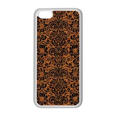 Damask2 Black Marble & Rusted Metal Apple Iphone 5c Seamless Case (white) by trendistuff