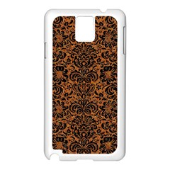 Damask2 Black Marble & Rusted Metal Samsung Galaxy Note 3 N9005 Case (white) by trendistuff