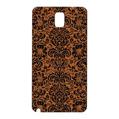 Damask2 Black Marble & Rusted Metal Samsung Galaxy Note 3 N9005 Hardshell Back Case by trendistuff