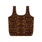 DAMASK2 BLACK MARBLE & RUSTED METAL Full Print Recycle Bags (S)  Back