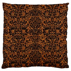Damask2 Black Marble & Rusted Metal Standard Flano Cushion Case (two Sides)