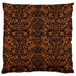 DAMASK2 BLACK MARBLE & RUSTED METAL Standard Flano Cushion Case (Two Sides) Back