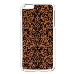 Damask2 Black Marble & Rusted Metal Apple Iphone 6 Plus/6s Plus Enamel White Case