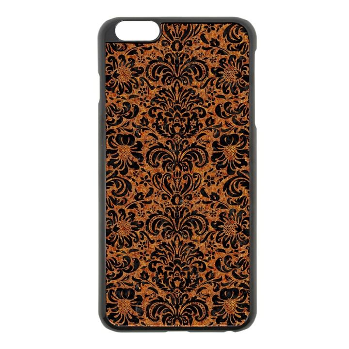 DAMASK2 BLACK MARBLE & RUSTED METAL Apple iPhone 6 Plus/6S Plus Black Enamel Case