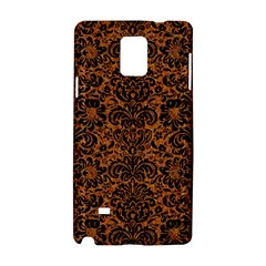 Damask2 Black Marble & Rusted Metal Samsung Galaxy Note 4 Hardshell Case by trendistuff