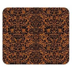 Damask2 Black Marble & Rusted Metal Double Sided Flano Blanket (small)  by trendistuff