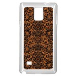DAMASK2 BLACK MARBLE & RUSTED METAL Samsung Galaxy Note 4 Case (White) Front