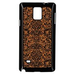 DAMASK2 BLACK MARBLE & RUSTED METAL Samsung Galaxy Note 4 Case (Black) Front