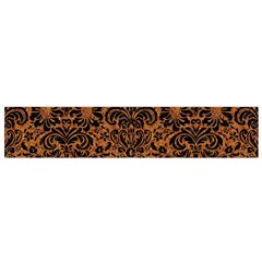 Damask2 Black Marble & Rusted Metal Flano Scarf (small) by trendistuff