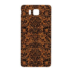 Damask2 Black Marble & Rusted Metal Samsung Galaxy Alpha Hardshell Back Case by trendistuff
