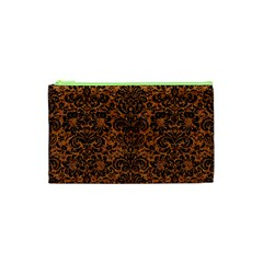 DAMASK2 BLACK MARBLE & RUSTED METAL Cosmetic Bag (XS)