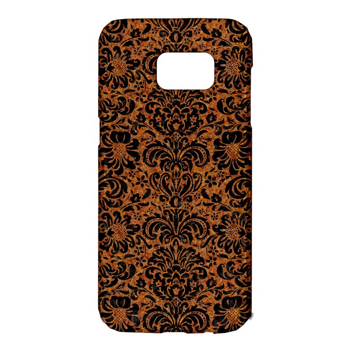 DAMASK2 BLACK MARBLE & RUSTED METAL Samsung Galaxy S7 Edge Hardshell Case