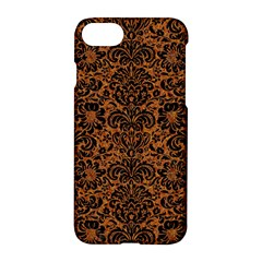 Damask2 Black Marble & Rusted Metal Apple Iphone 7 Hardshell Case by trendistuff