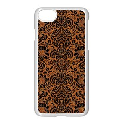 Damask2 Black Marble & Rusted Metal Apple Iphone 7 Seamless Case (white) by trendistuff