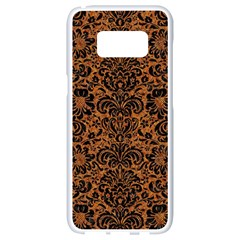 Damask2 Black Marble & Rusted Metal Samsung Galaxy S8 White Seamless Case by trendistuff