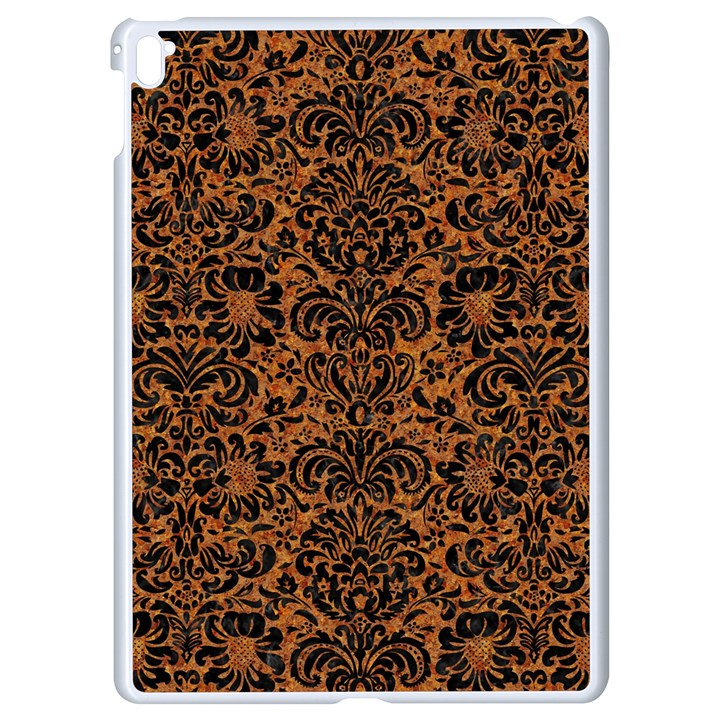 DAMASK2 BLACK MARBLE & RUSTED METAL Apple iPad Pro 9.7   White Seamless Case
