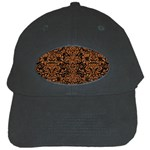 DAMASK2 BLACK MARBLE & RUSTED METAL (R) Black Cap
