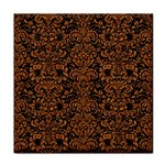 DAMASK2 BLACK MARBLE & RUSTED METAL (R) Tile Coasters
