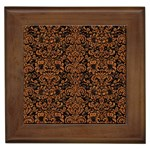 DAMASK2 BLACK MARBLE & RUSTED METAL (R) Framed Tiles