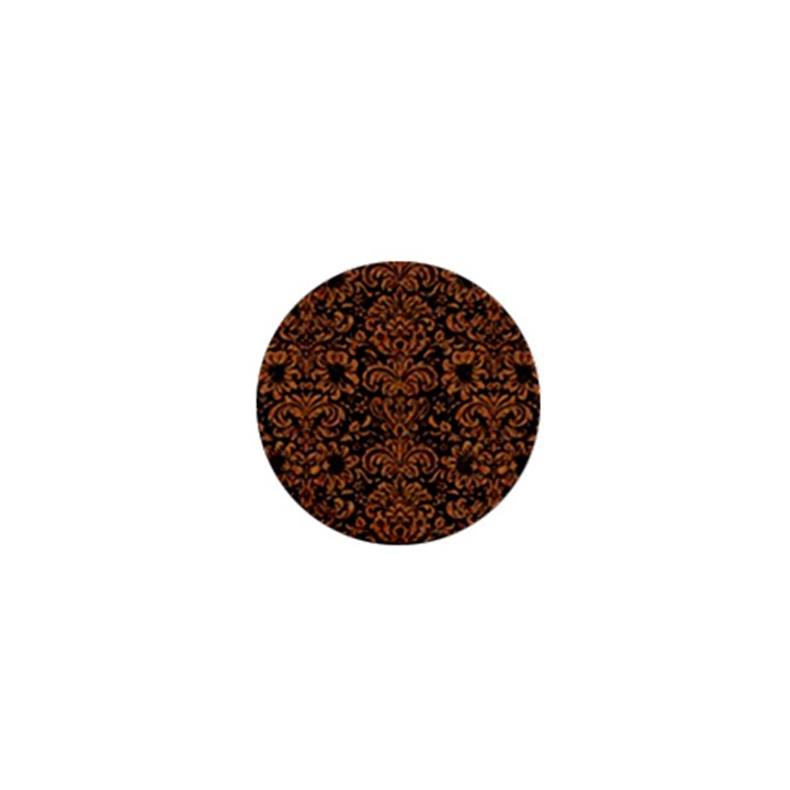 DAMASK2 BLACK MARBLE & RUSTED METAL (R) 1  Mini Magnets