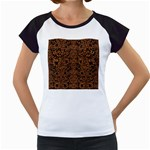 DAMASK2 BLACK MARBLE & RUSTED METAL (R) Women s Cap Sleeve T