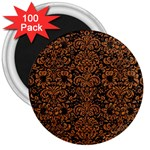 DAMASK2 BLACK MARBLE & RUSTED METAL (R) 3  Magnets (100 pack)
