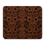 DAMASK2 BLACK MARBLE & RUSTED METAL (R) Large Mousepads Front