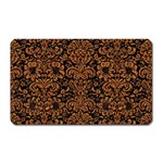 DAMASK2 BLACK MARBLE & RUSTED METAL (R) Magnet (Rectangular)