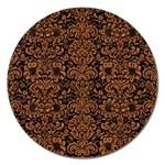 DAMASK2 BLACK MARBLE & RUSTED METAL (R) Magnet 5  (Round)