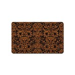 DAMASK2 BLACK MARBLE & RUSTED METAL (R) Magnet (Name Card)