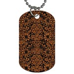 DAMASK2 BLACK MARBLE & RUSTED METAL (R) Dog Tag (One Side)